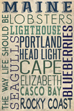 Portland Head Lighthouse, Maine Plastic Sign by  Lantern Press