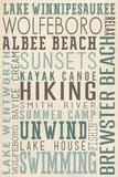 Lake Winnipesaukee, New Hampshire Plastic Sign by  Lantern Press