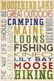 Moosehead Lake, Maine Plastic Sign by  Lantern Press
