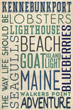 Kennebunkport, Maine Plastic Sign by  Lantern Press