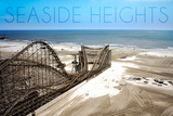 Seaside Heights - Roller Coaster Construction 1 Wall Mural by  Lantern Press