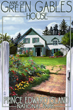 Prince Edward Island - Green Gables House and Gardens Plastic Sign by  Lantern Press