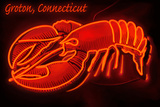 Groton, Connecticut - Lobster Neon Sign Plastic Sign by  Lantern Press