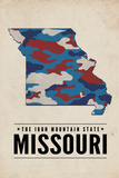 Missouri - the Iron Mountain State - Camo State Plastic Sign by  Lantern Press
