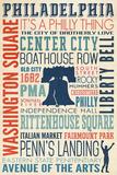 Philadelphia, PA Plastic Sign by  Lantern Press