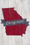 Georgia on My Mind Plastic Sign by  Lantern Press