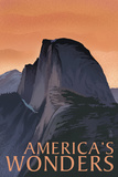 America's Wonders - National Park WPA Sentiment Plastic Sign by  Lantern Press