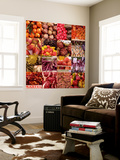Multiple Views of Colourful Fruit and Vegetable Produce in Venice, Italy Wall Mural by Mike Burton