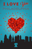 I Love You Philadelphia Plastic Sign by  Lantern Press
