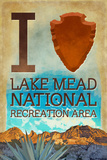 I Heart Lake Mead National Recreation Area Plastic Sign by  Lantern Press