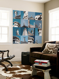 Multiple Views of Venice Wall Mural by Mike Burton
