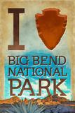 I Heart Big Bend National Park, Texas Plastic Sign by  Lantern Press