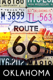 Oklahoma - Route 66 License Plates Plastic Sign by  Lantern Press