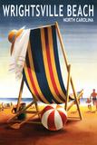 Wrightsville Beach, North Carolina - Beach Ball and Chair Plastic Sign by  Lantern Press