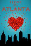 I Love You Atlanta, Georgia Plastic Sign by  Lantern Press