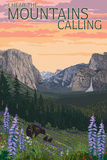 The Mountains Calling - National Park WPA Sentiment Plastic Sign by  Lantern Press