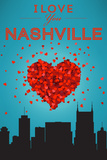 I Love You Nashville, Tennessee Plastic Sign by  Lantern Press