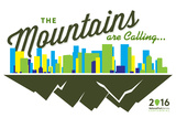 National Park Service Centennial - Skyline and Mountains Plastic Sign by  Lantern Press