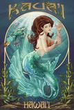 Mermaid - Kaua'i, Hawai'i Plastic Sign by  Lantern Press