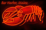 Bar Harbor, Maine - Lobster Neon Plastic Sign by  Lantern Press