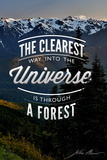 John Muir - the Clearest Way Plastic Sign by  Lantern Press
