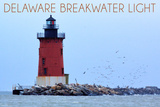 Lewes, Delaware - Cape Henlopen Lighthouse Day Wall Mural by  Lantern Press