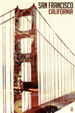 Golden Gate Bridge Double Exposure - San Francisco, CA Plastic Sign by  Lantern Press