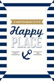 Hampton Beach, New Hampshire - Hampton Beach Is My Happy Place Plastic Sign by  Lantern Press