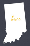 Indiana - Home State - Gray Plastic Sign by  Lantern Press