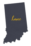 Indiana - Home State - White Plastic Sign by  Lantern Press