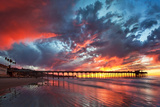 Pier and Sunset Wall Mural by  Lantern Press