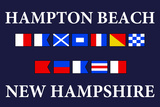 Hampton Beach, New Hampshire - Nautical Flags Plastic Sign by  Lantern Press