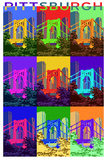 Pittsburgh, Pennsylvania - 10th Street Bridge Pop Art Plastic Sign by  Lantern Press