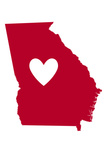 Georgia - Heart Design Plastic Sign by  Lantern Press