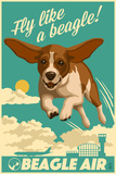 Beagle - Retro Aviation Ad Plastskilt av  Lantern Press