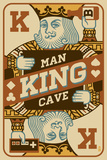King Card Plastic Sign by  Lantern Press