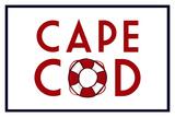 Cape Cod - Life Preserver Plastic Sign by  Lantern Press