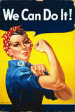 Rosie the Riveter - We Can Do It! - Poster Seinämaalaus tekijänä  Lantern Press