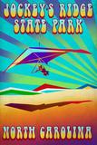 Jockey's Ridge State Park, North Carolina - Psychedelic Hang Glider Plastic Sign by  Lantern Press