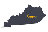 Kentucky - Home State - White Plastic Sign by  Lantern Press
