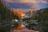 Rocky Mountain National Park, Colorado - Dream Lake Sunset Wall Mural by  Lantern Press