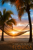 Carillon Beach, Florida - Hammock and Sunset Wall Mural by  Lantern Press