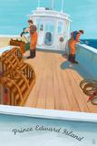Prince Edward Island - Lobster Boat Plastic Sign by  Lantern Press