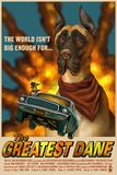 Great Dane - Retro Movie Ad Znaki plastikowe autor Lantern Press