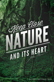 John Muir - Keep Close to Nature - Olympic National Park Plastic Sign by  Lantern Press