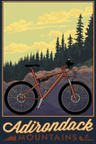 Adirondack Mountains, New York - Ride the Trails Plastic Sign by  Lantern Press