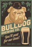 Bulldog - Retro Stout Beer Ad Plastic Sign by  Lantern Press