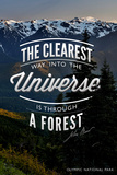 John Muir - the Clearest Way - Olympic National Park Plastic Sign by  Lantern Press