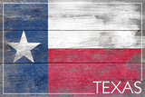 Texas State Flag - Barnwood Painting Plastic Sign by  Lantern Press