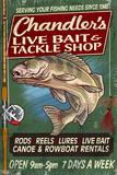 Tackle Shop - Vintage Sign Plastic Sign by  Lantern Press
